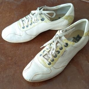 Vintage Mephisto air-jet leather sneakers